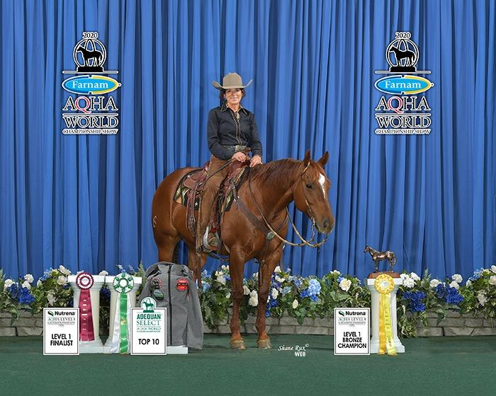 Alison Brantley & Metallic Dual - 3rd Place, Level 1 Select Ranch Riding