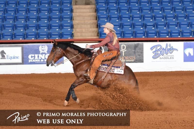 Kelli Buckley & One Time Safari - Reserve Champion, Non Pro Limited; Top 5, $5K Non Pro Limited; Finalist, $1K Non Pro Limited
